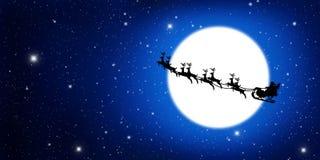 Santa Claus On Sledge Royalty Free Stock Image