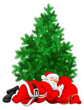 Santa Claus sleeping Royalty Free Stock Photography