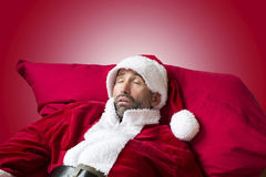 Santa Claus sleeping Royalty Free Stock Photo