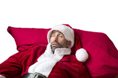 Santa Claus sleeping royalty free stock photos