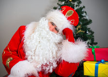 Santa Claus sleeping. Royalty Free Stock Photo