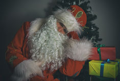 Santa Claus sleeping. Royalty Free Stock Image