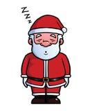 Santa Claus sleeping and snoring.  Royalty Free Stock Photos