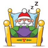 Santa Claus sleeping snoring dreaming. Santa Claus sleeping, snoring, dreaming - will be late Royalty Free Stock Photos