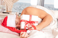 Santa Claus sleeping Stock Image
