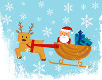 Santa claus sleigh Stock Photos