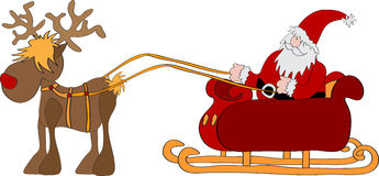 Santa Claus with sleigh Royalty Free Stock Image