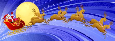 Santa Claus sleigh Royalty Free Stock Photography