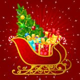 Santa Claus sleigh Royalty Free Stock Photos