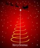 Santa claus in sleigh Stock Photography