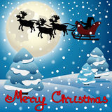 Santa Claus in a sleigh Stock Image