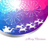 Santa claus sleigh Stock Photo