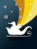 Santa claus sleigh Stock Photography