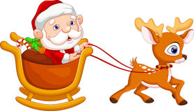 Santa Claus in a sleigh Stock Photography