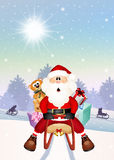 Santa Claus on sleigh Royalty Free Stock Images