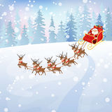 Santa Claus in sleigh 2 Royalty Free Stock Photo