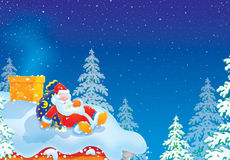 Santa Claus is slightly drunk Royalty Free Stock Images