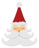 Santa claus smile isolated on white background Stock Image
