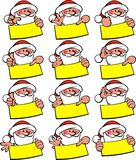 Santa claus smile set Royalty Free Stock Photography