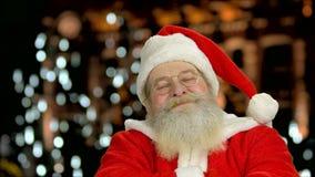 Santa Claus smiling. stock video