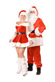 Santa Claus and smiling Snow Maiden Royalty Free Stock Images