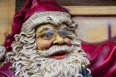 Santa Claus smiling. On wood Stock Photo