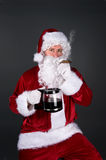 Santa Claus smoking a cigar Stock Photo