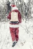 Santa Claus in sneeuwonweer royalty-vrije stock fotografie