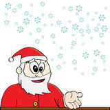 Santa Claus and snow Royalty Free Stock Photography