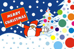 Santa Claus in the snow Stock Images