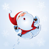 Santa Claus - Snow angel Stock Photography