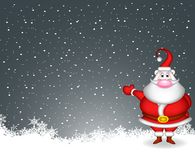 Santa claus with snow background Royalty Free Stock Photo