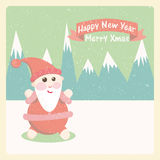 Santa claus snow-capped mountains Royalty Free Stock Image