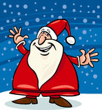 Santa claus and snow cartoon illustration Royalty Free Stock Images