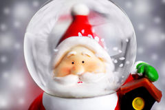Santa Claus in the snow globe Royalty Free Stock Images