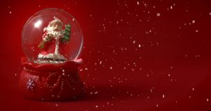Santa Claus Snow Globe Red clips vidéos