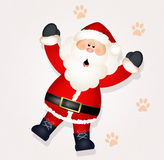 Santa Claus in the snow. Illustration of Santa Claus in the snow Royalty Free Stock Photography
