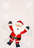 Santa Claus in the snow. Illustration of funny Santa Claus in the snow Royalty Free Stock Photo
