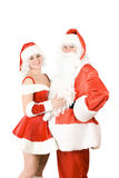 Santa Claus and Snow Maiden Royalty Free Stock Photography