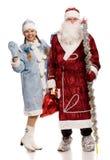 Santa Claus and Snow Maiden Stock Photo