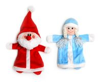 Santa Claus and snow maiden Stock Photography