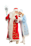 Santa Claus and Snow Maiden Royalty Free Stock Image
