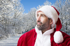 Santa Claus in the snow Royalty Free Stock Images