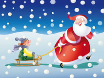 Santa claus snow Stock Images