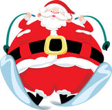 Santa Claus snow skiing Royalty Free Stock Image
