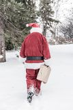 Santa Claus in snow storm Stock Image