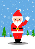 Santa Claus and snow white Stock Photo