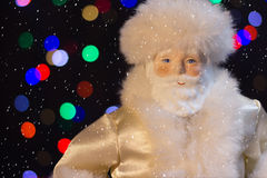 Santa Claus with the snow. Will bring many gifts to children Royalty Free Stock Photos