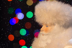 Santa Claus with the snow. Will bring many gifts to children Royalty Free Stock Image