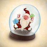 Santa Claus in snowball Royalty Free Stock Images